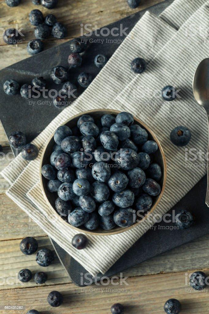 Raw Organic Healthy Blueberries royalty-free stock photo