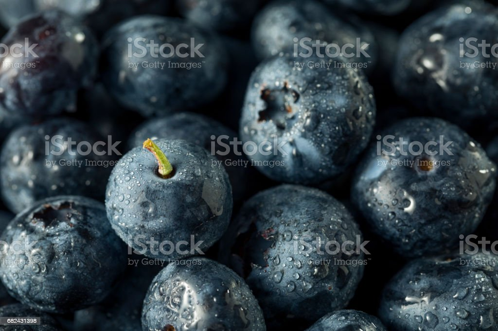 Raw Organic Healthy Blueberries Lizenzfreies stock-foto