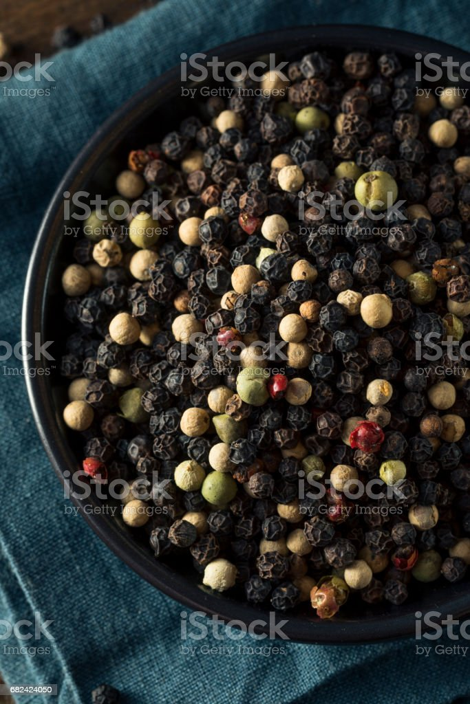 Raw Organic Mixed Peppercorns royalty-free stock photo