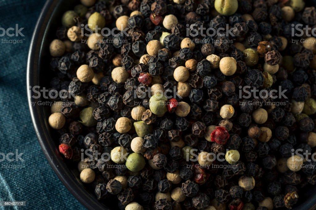Raw Organic Mixed Peppercorns photo libre de droits