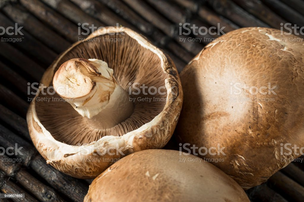 Raw Organic Portobello Mushrooms Stock Photo Download Image Now Istock