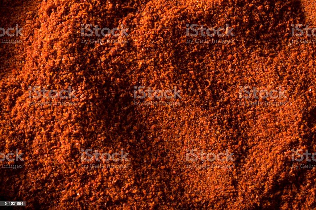 Raw Organic Red Paprika Spice stock photo