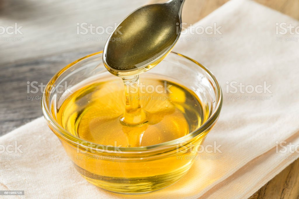Raw Organic Sweet Light Agave Syrup stock photo
