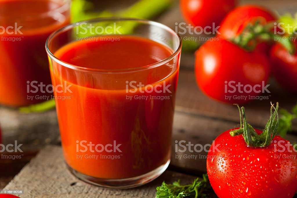 Raw Organic Tomato Juice stock photo
