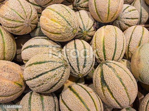 Raw Organic Tuscan Melon Cantaloupe