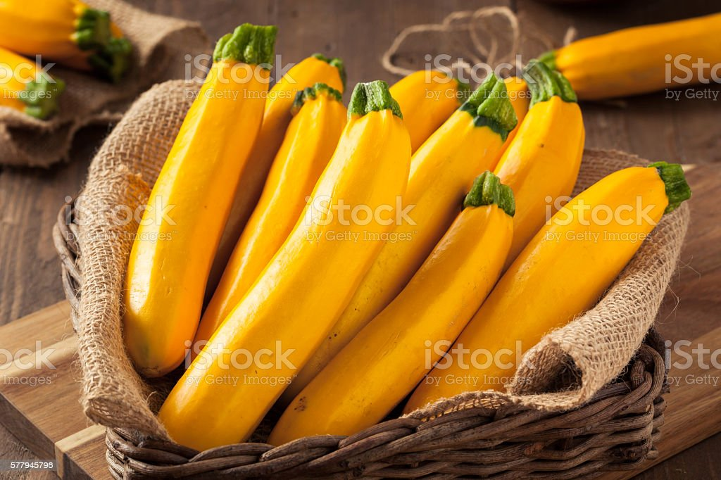 Raw Organic Yellow Zucchini Squash stock photo