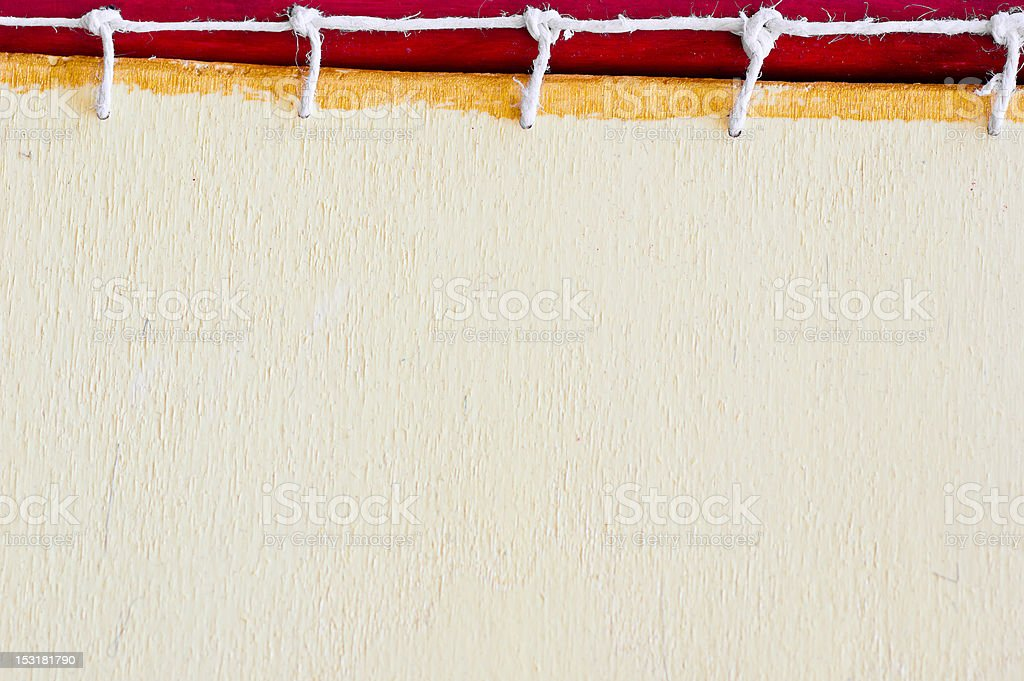 Raw Paper Texture Lace Binding Notebook royalty-free stock photo