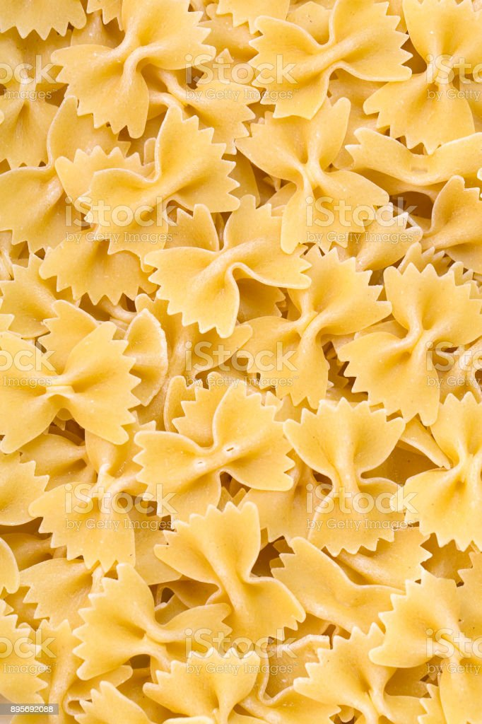 Raw pasta background stock photo