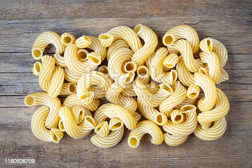 istock Raw pasta cavatappi. 1160606709