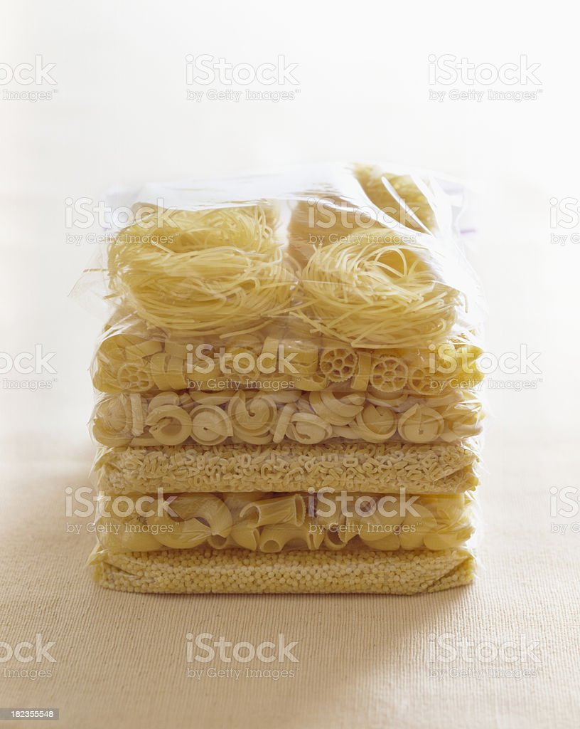 Raw Pasta stock photo