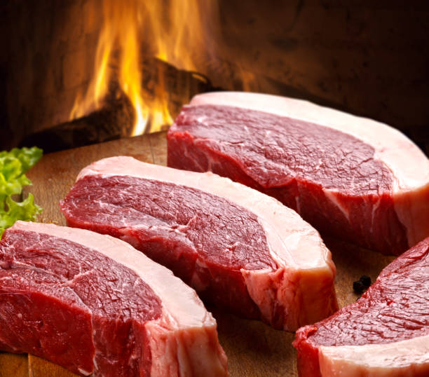 ruwe picanha - vleesdelen stockfoto's en -beelden