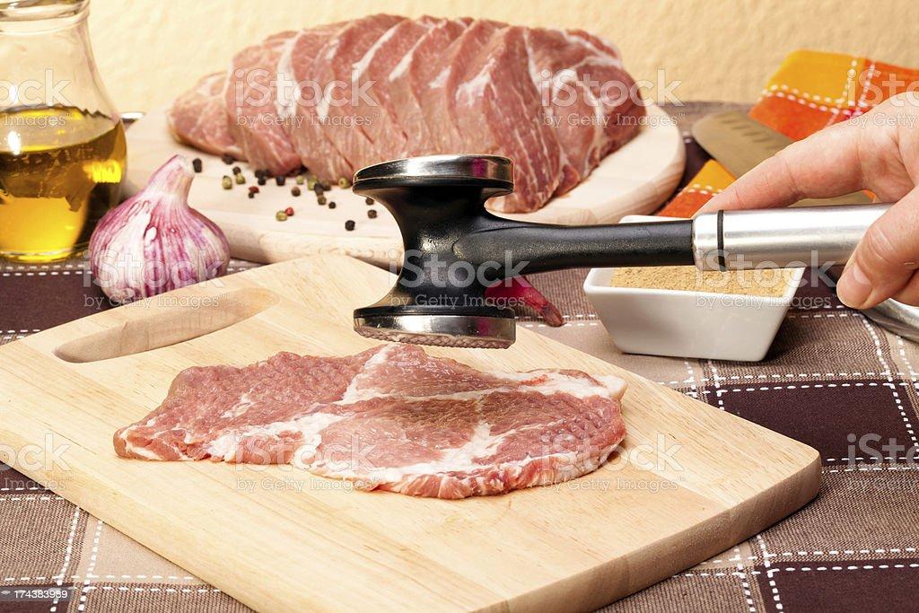 Raw pork meat royalty-free stock photo