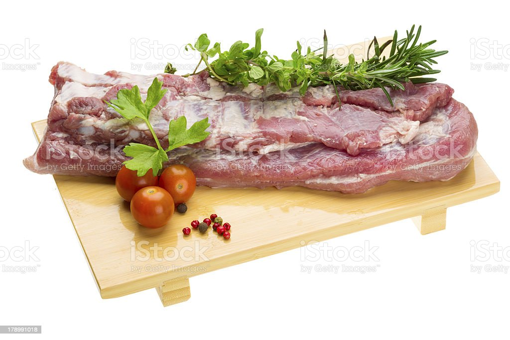 Raw pork meat royalty-free stock photo