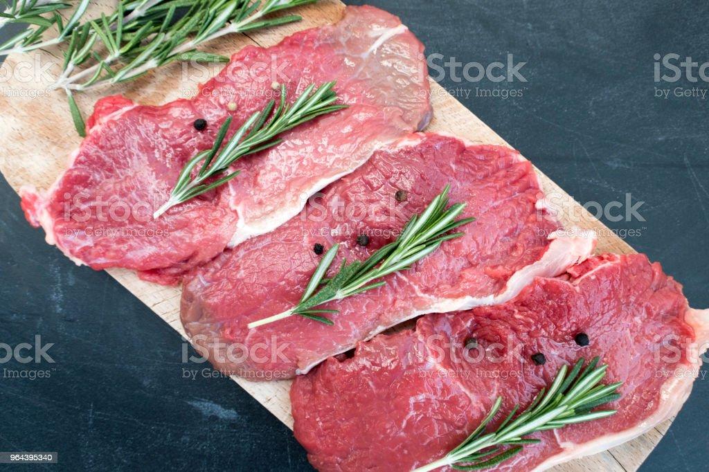 Raw Filé de carne suína - Foto de stock de Bife royalty-free