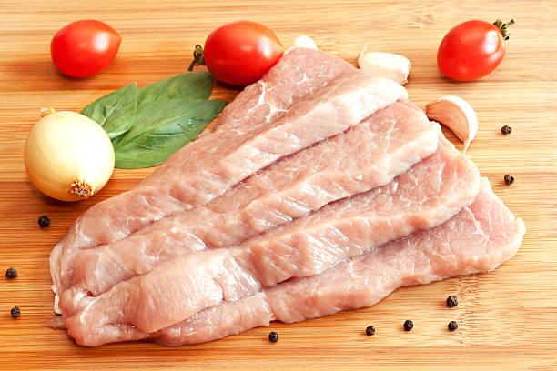 生豚とスパイス、野菜 ストックフォト
