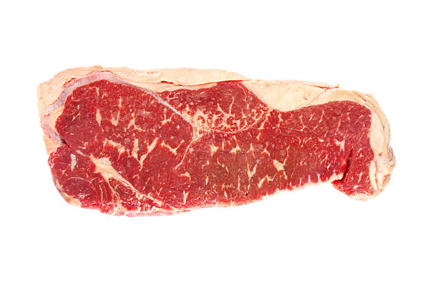 raw porterhouse steak - strip steak stockfoto's en -beelden