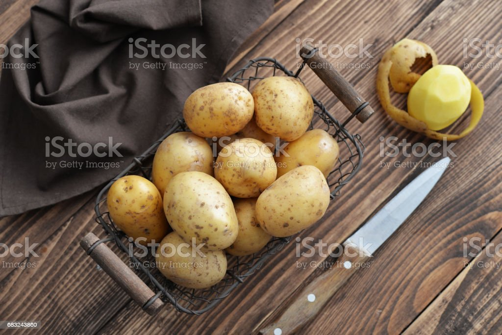 Raw potato food 免版稅 stock photo