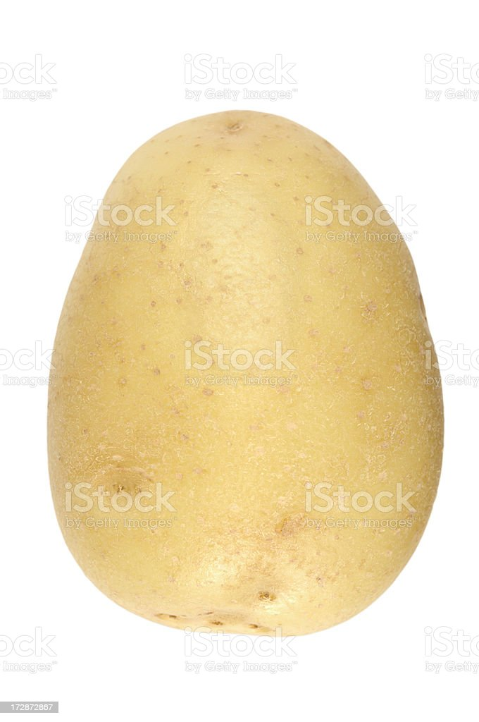 A raw potato isolated on a white background royalty-free stock photo