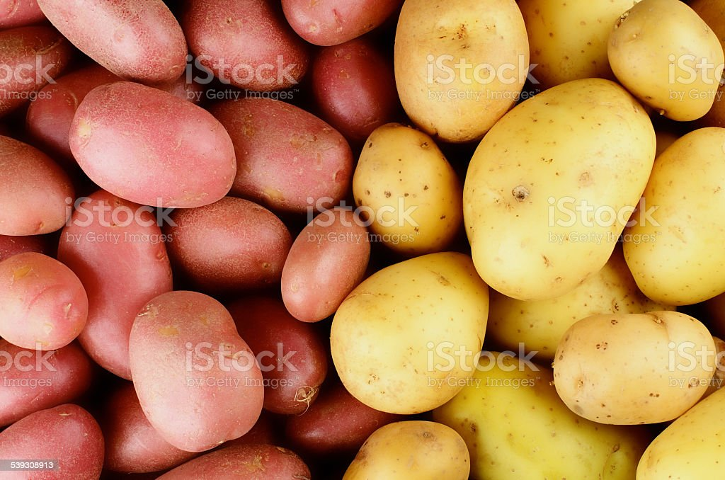Raw Potatoes Background stock photo
