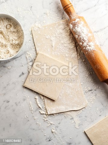 Puff Pastry, Rolling, Dough, Raw Food,puff pastry dough,flaked pastry,	puff dough,Backgrounds, Bakery, Baking, Bread