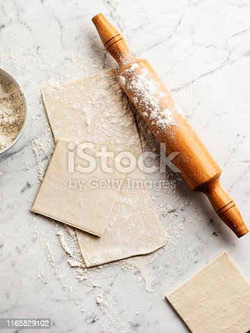 Puff Pastry, Rolling, Dough, Raw Food,puff pastry dough,flaked pastry,puff dough,Backgrounds, Bakery, Baking, Bread