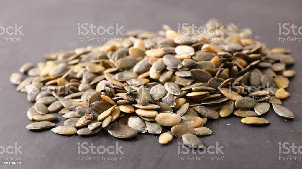 raw pumpkin seed royalty-free stock photo