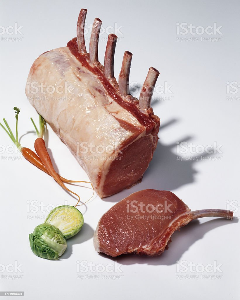 Raw rack of pork royalty-free stock photo