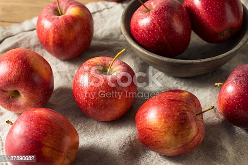 Raw Red Organic Gala Apples in a Bunch