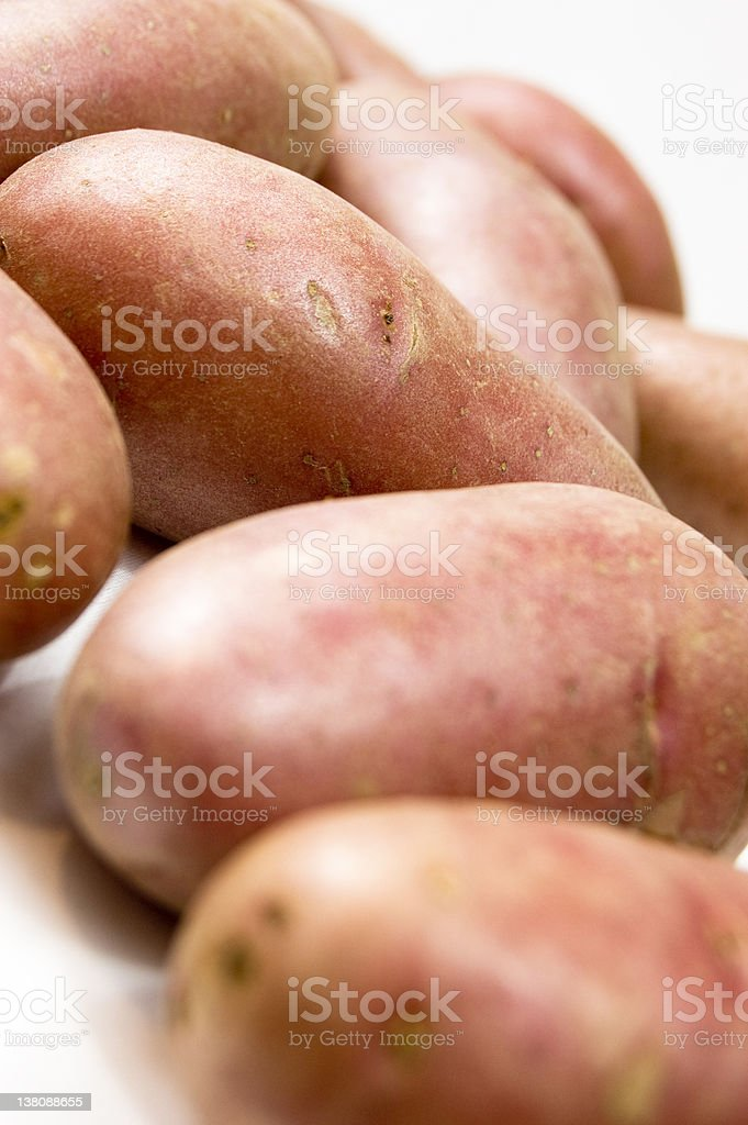 Raw Red Potatoes royalty-free stock photo