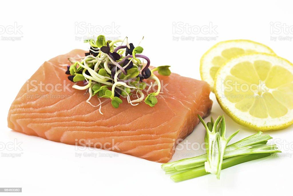 Raw Salmon like sashimi royalty-free stock photo