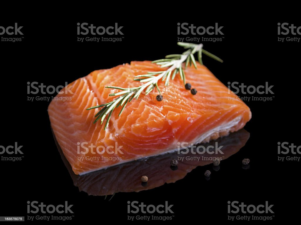 Raw salmon. royalty-free stock photo