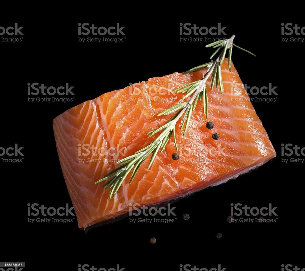 Raw salmon. stock photo