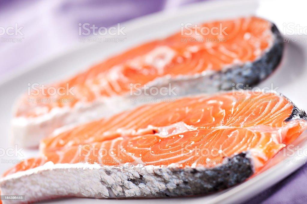 Raw Salmon royalty-free stock photo