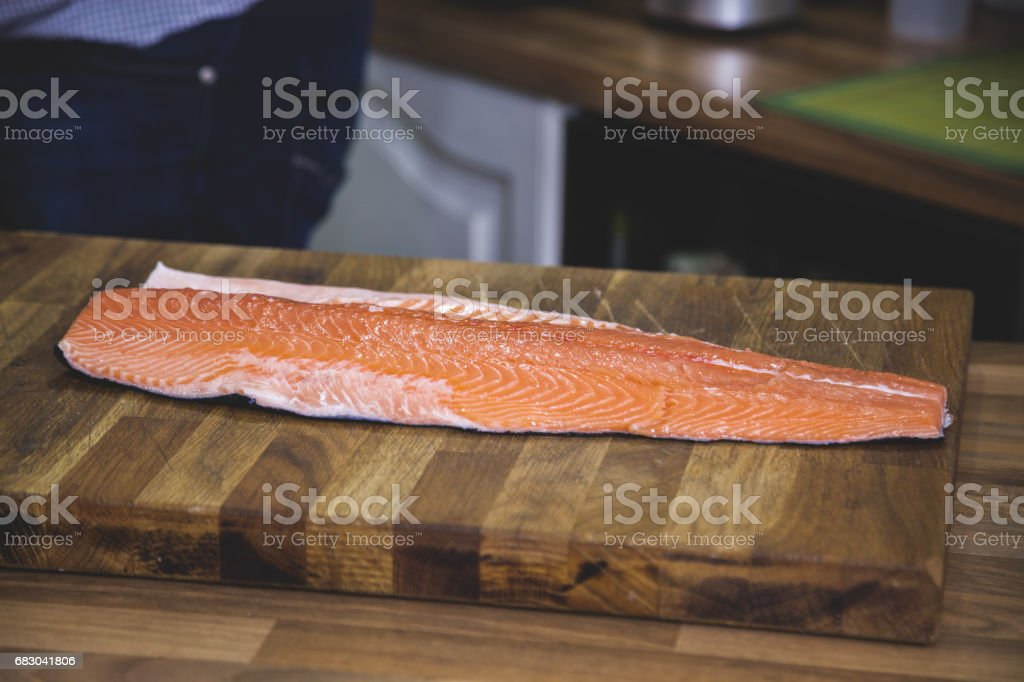 Raw salmon. foto de stock royalty-free