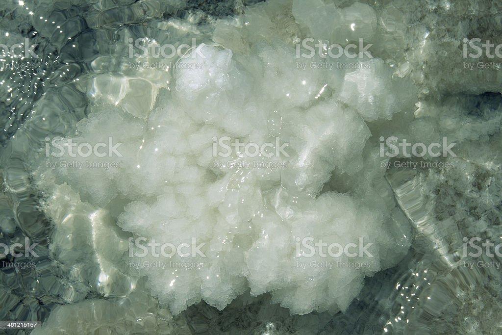 Raw salt texture royalty-free stock photo