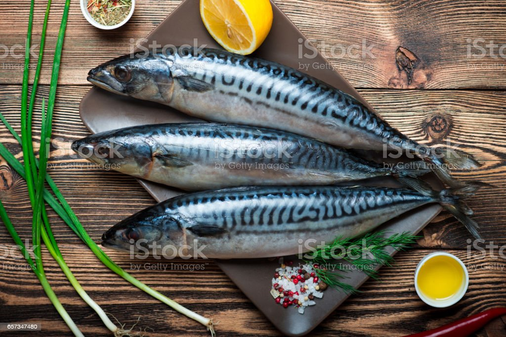 Raw sea fish stock photo