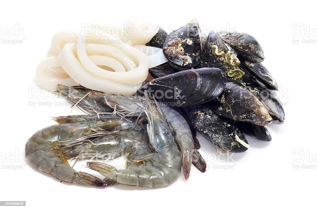 raw seafood royalty-free stock photo