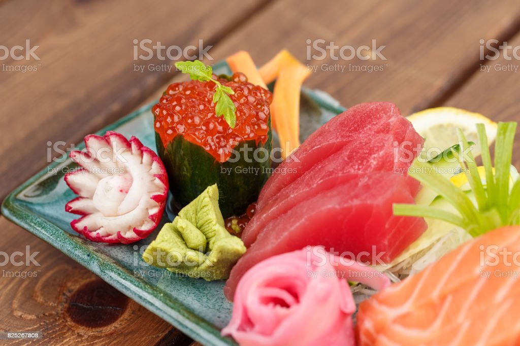 Raw Seafood selections stock photo
