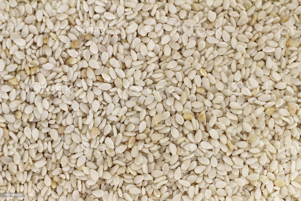 Raw Sesame Seeds royalty-free stock photo