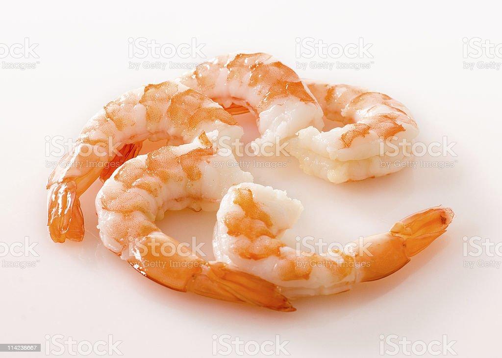 Raw Shrimp On Plain White Background royalty-free stock photo