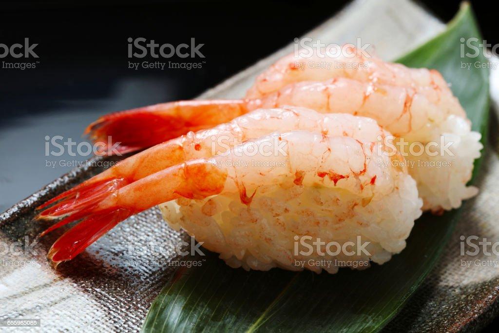 Raw Shrimp Sushi Stock Photo More Pictures Of Ebi Istock