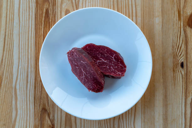 raw sirloin plate on stock photo