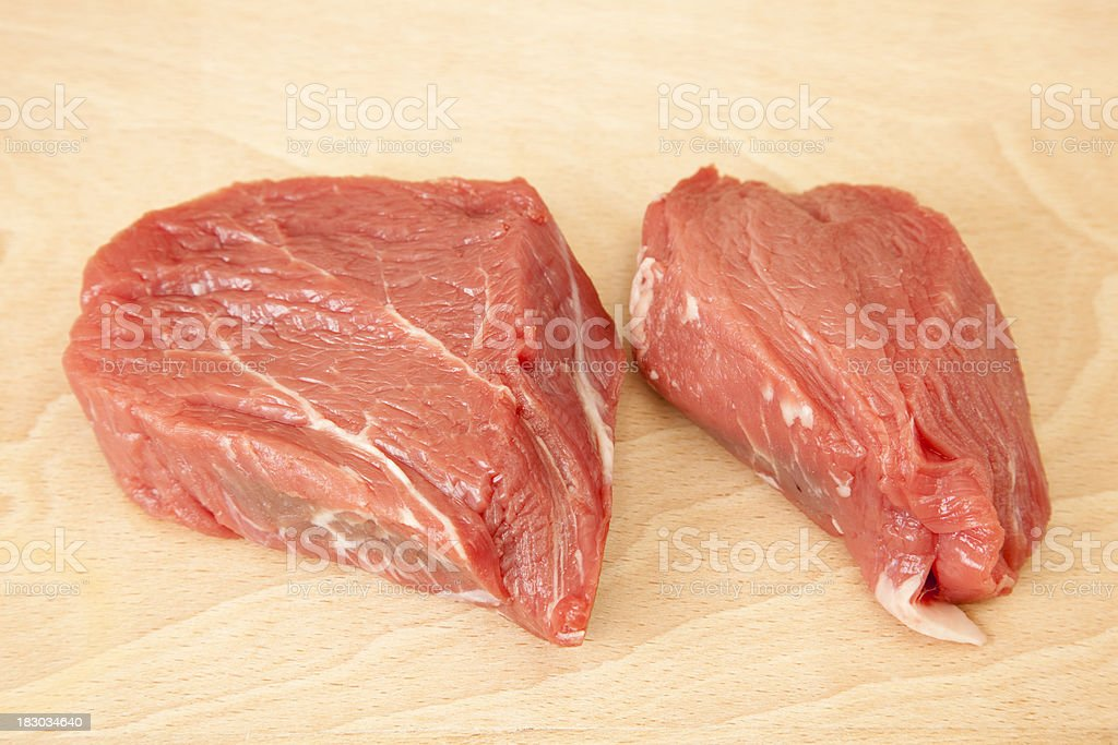 Raw Sirloin Steak royalty-free stock photo
