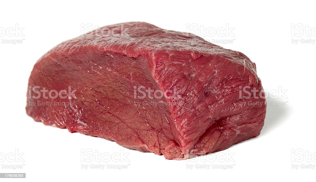 Raw sliced meat royalty-free stock photo