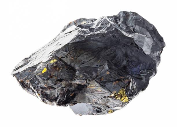 surowy kamień sfalerytowy (mieszanka cynku) na białym - minerał zdjęcia i obrazy z banku zdjęć