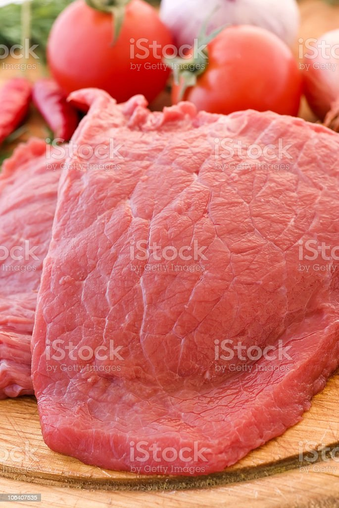 Raw Steak royalty-free stock photo