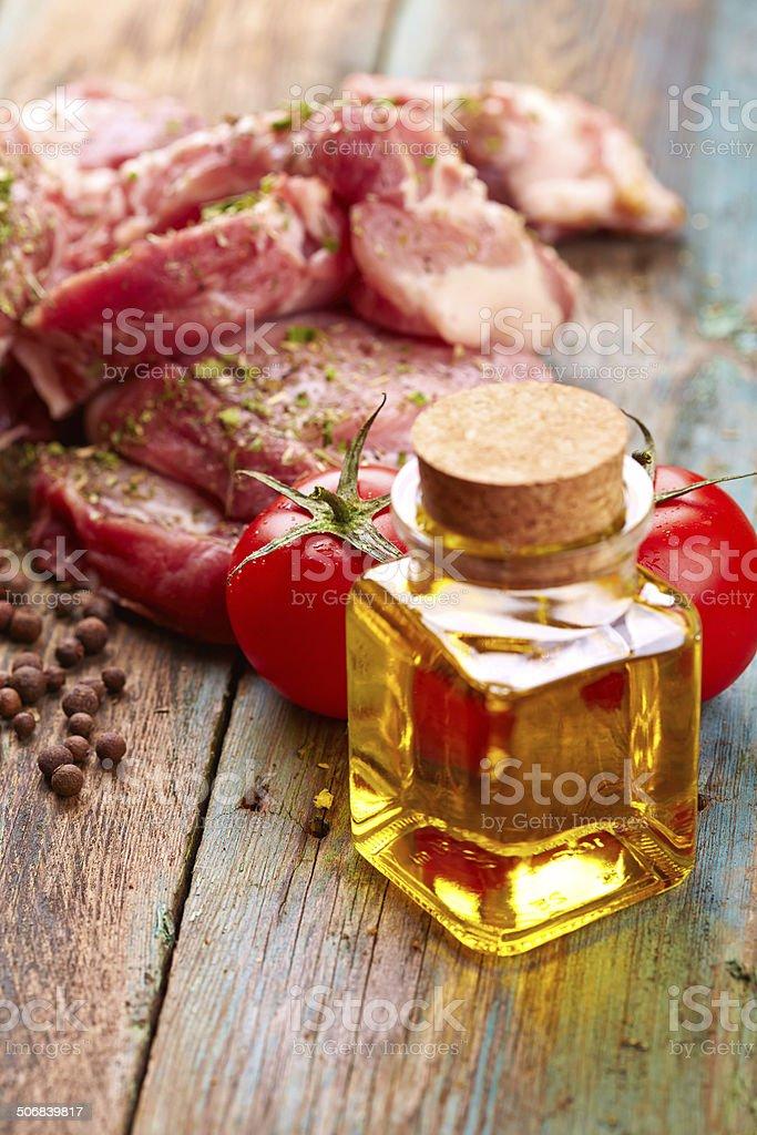 Raw steak royalty-free stock photo