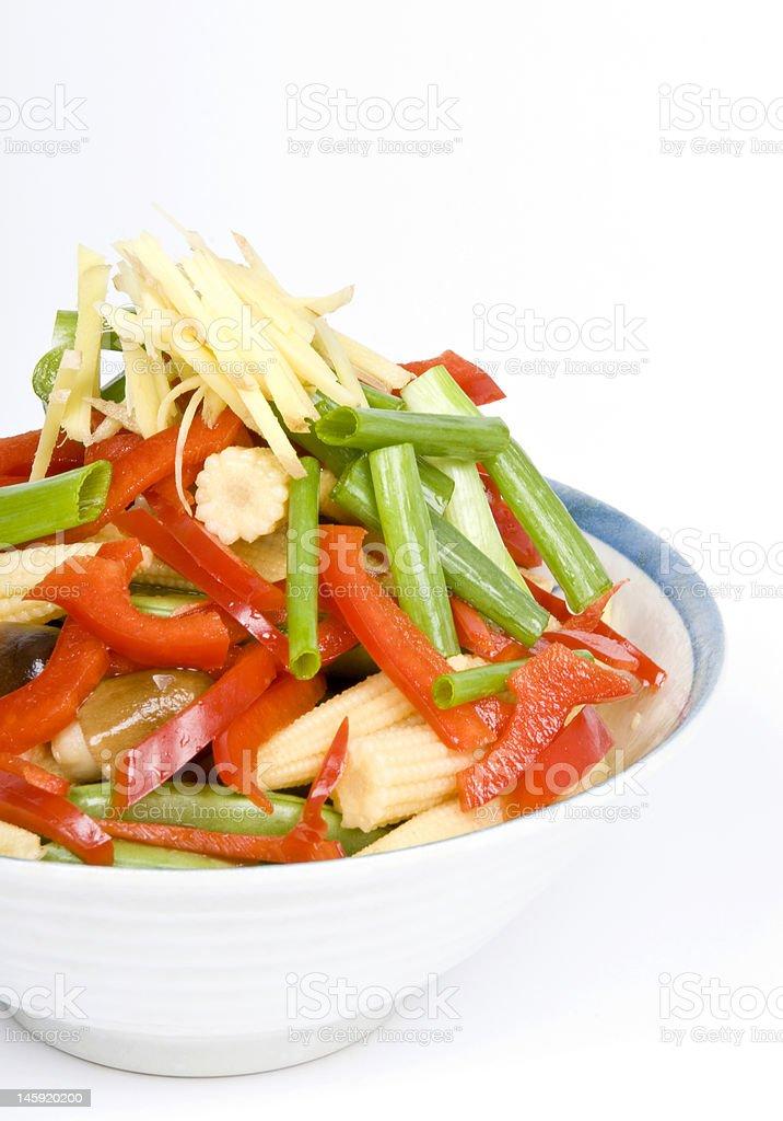 Raw Stir Fry Vegetables royalty-free stock photo