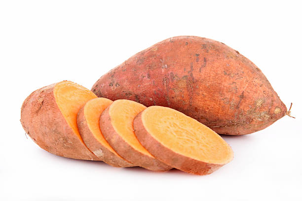 raw sweet potato raw sweet potato sweet potato stock pictures, royalty-free photos & images