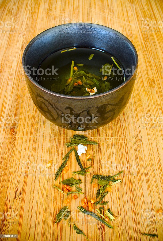 Raw tea stock photo
